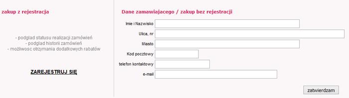 Allezłoto - formularz z danymi