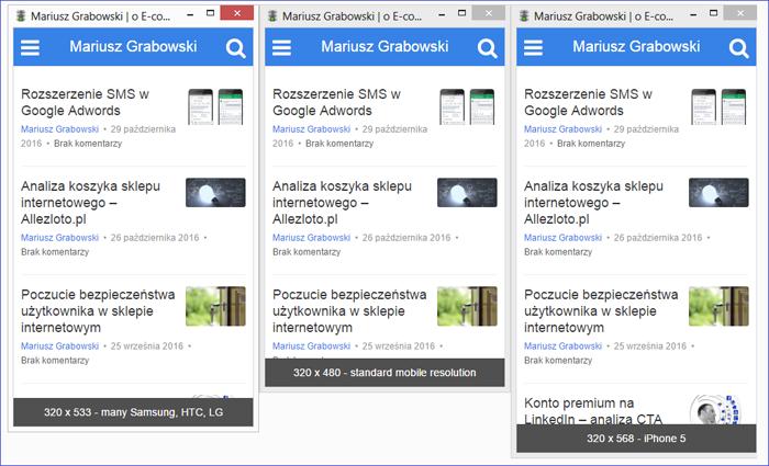Emulator wersji mobilnej na komputer stacjonarny