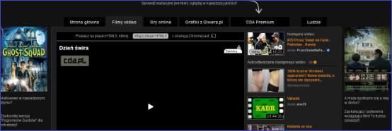 Filmy tylko dla CDA Premium