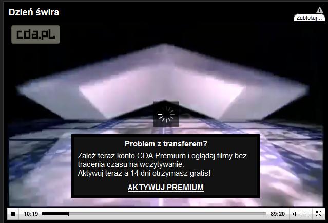 Problem z transferem na CDA.pl - konto premium