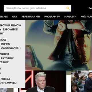 Nowe menu nawigacyjne Filmweb