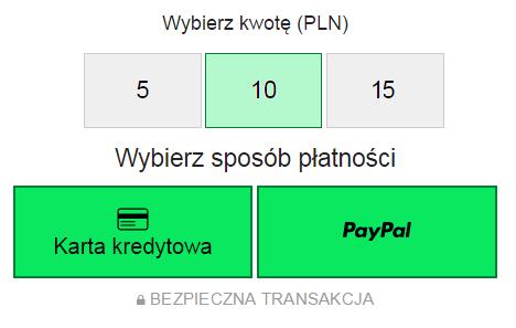 Zbiórka na Wikipedii - nowy panel płatności