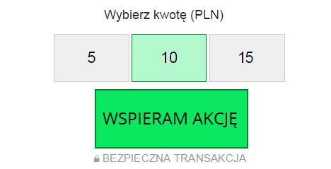 Zbiórka na Wikipedii - etapowy panel płatności