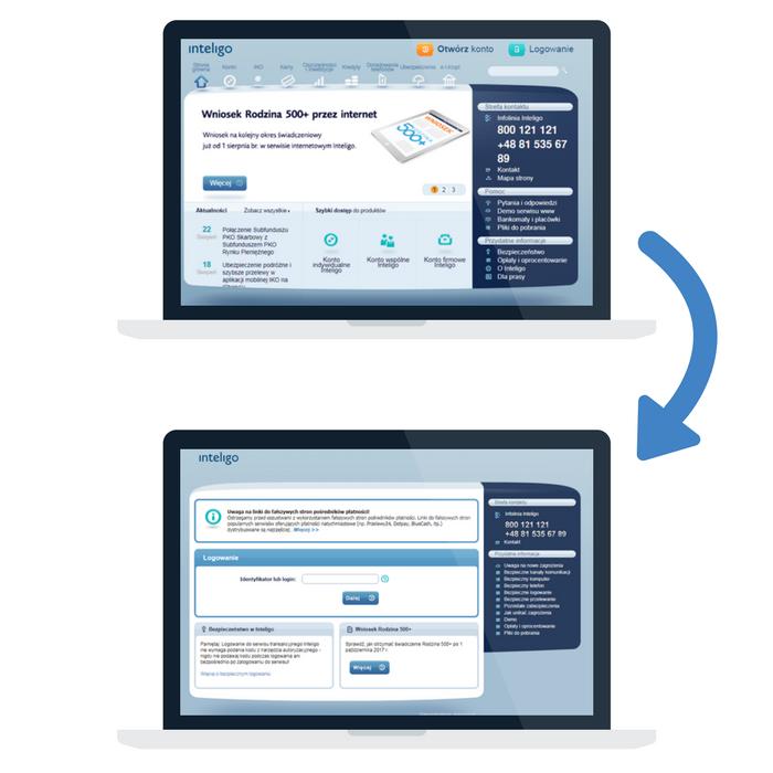 Inteligo - strona główna i logowanie do rachunku